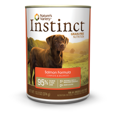 Nature's Variety Instinct Grain-Free Canned Dog Food - Salmon