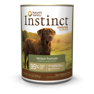 Nature's Variety Instinct Grain-Free Canned Dog Food - Venison