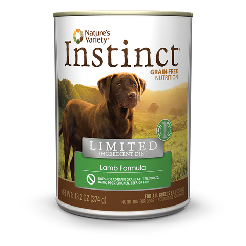 Nature's Variety Instinct Limited Ingredient Canned Dog Food - Lamb