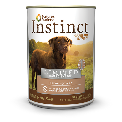 Nature's Variety Instinct Limited Ingredient Canned Dog Food - Turkey