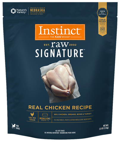 Instinct® Raw Signature™ Frozen Medallions Real Chicken Recipe