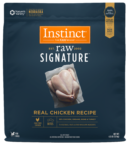 Instinct® Raw Signature™ Frozen Bites Real Chicken Recipe
