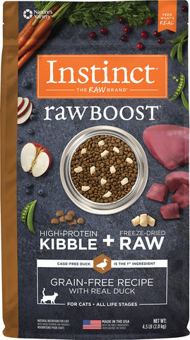 Instinct® Raw Boost® Grain-Free Recipe with Real Duck for Cats