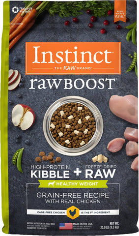 Instinct® Raw Boost® Grain-Free Recipe with Real Chicken For Healthy Weight for Dogs