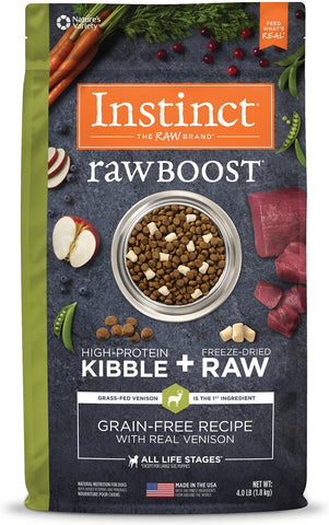 Instinct® Raw Boost® Grain-Free Recipe with Real Venison for Dogs