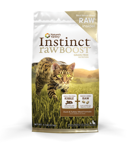 Nature's Variety Instinct Raw Boost Grain-Free Kibble Cat Food - Duck Meal & Turkey Meal