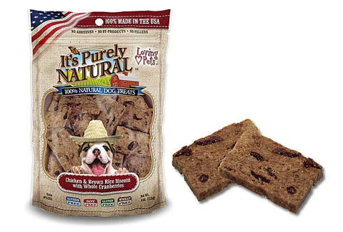 It's Purely Natural® Chicken and Brown Rice Biscotti with Whole Cranberries for Dogs