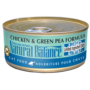 Natural Balance L.I.D. Limited Ingredient Diets® Chicken & Green Pea Canned Cat Formula