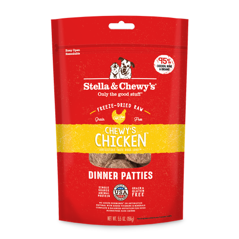 Stella & Chewy's Chewy's Chicken Freeze-Dried Dinner Patties for Dogs