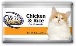 Nutrisource Chicken and Rice Cat Formula