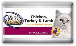 NutriSource Chicken, Turkey & Lamb Cat and Kitten Formula