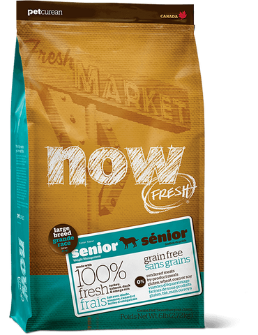 Now! Grain Free Large Breed Senior Dog Recipe