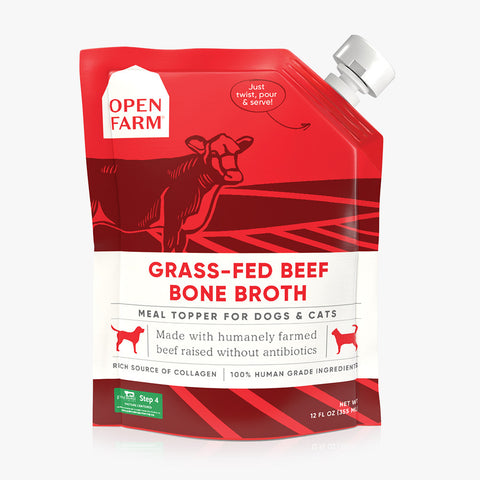 Open Farm Grass-Fed Beef Bone Broth for Dogs