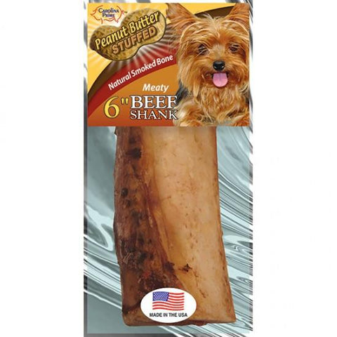 Carolina Prime Beef Shank Bone-Peanut Butter Stuffed for Dogs