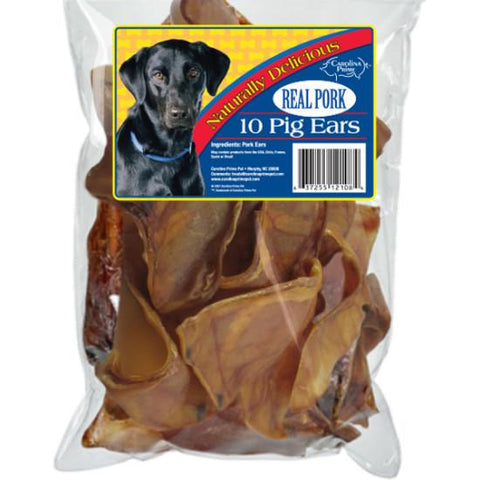 Carolina Prime Pig Ears - 10 Count for Dogs