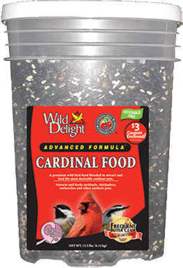 Wild Delights Cardinal Food Pail