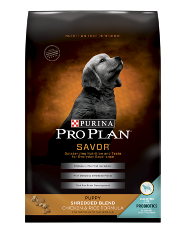Pro Plan SAVOR Puppy Shredded Blend Chicken & Rice Formula Dry Puppy Food