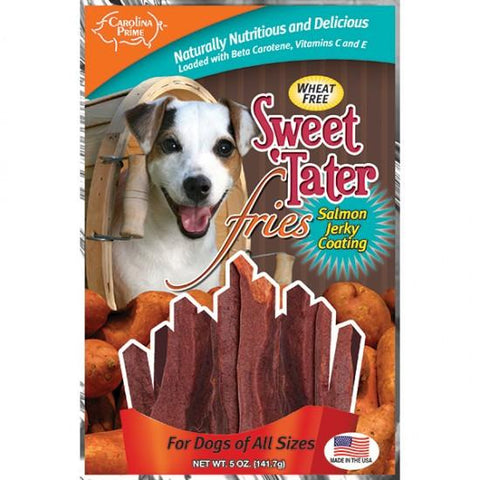 Carolina Prime Sweet 'Tater Fries - Salmon Coated for Dogs