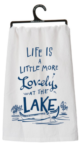 Dish Towel - Lovely At The Lake