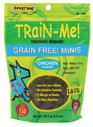 Train-Me Reward Treats Grain Free Mini's - Chicken for Dogs
