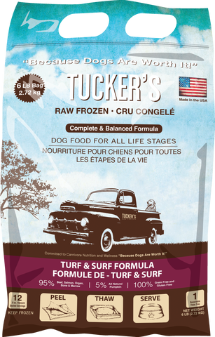 Tucker's Turf & Surf Raw Frozen Food for Dogs