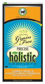 Precise Holistic Complete Grain Free Turkey & Chicken With Spring Yellow Peas Cat Food