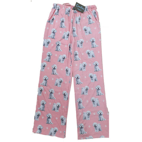 Comfies Dog Breed Lounge Pants for Women, Bichon Frise