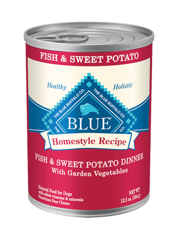 Blue Buffalo BLUE Homestyle Recipe® Fish & Sweet Potato Dinner with Garden Vegetables for Dogs