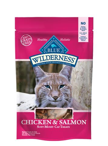 BLUE Wilderness® Chicken & Salmon Cat Treats for Cats