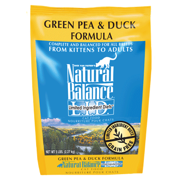 Natural Balance L.I.D. Limited Ingredient Diets® Green Pea & Duck Dry Cat Formula