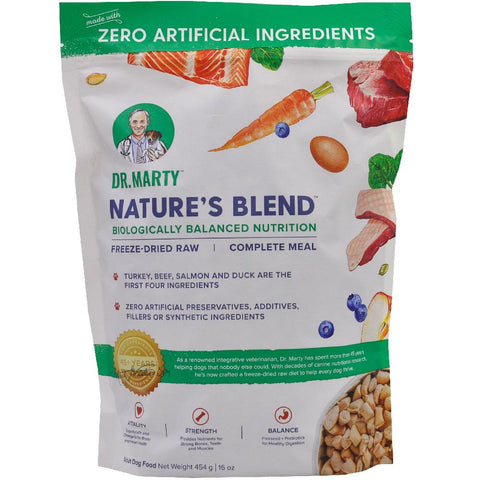 Dr. Marty's Premium Freeze Dried Nature's Blend Dog Food, 16oz