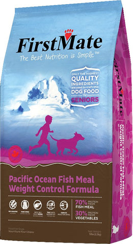 FirstMate Weight Control/Senior Pacific Ocean Fish Formula Grain-Free Dry Dog Food