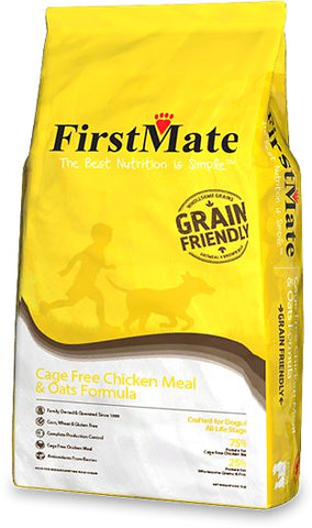 FirstMate Grain Friendly Cage Free Chicken & Oats Formula Dog Food