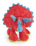 goDog® Dinos Frills with Chew Guard Technology Squeaker Plush Dog Toy, Large