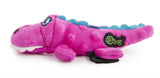 goDog® Gators™ Just for Me™ with Chew Guard Technology™ Durable Plush Squeaker Dog Toy, Pink, Mini
