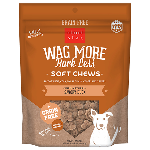 Wag More Bark Less Soft & Chewy Treats: Savory Duck