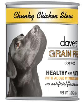Dave's Grain Free™ Canned Dog Food Chunky Chicken Stew Recipe