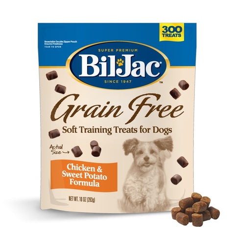 Bil-Jac Grain Free Chicken and Sweet Potato Dog Treat, 10 Ounces