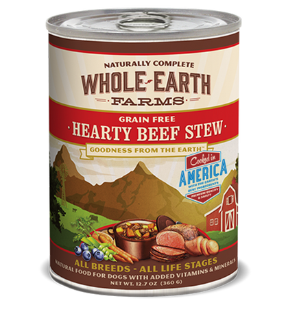 Whole Earth Farms Grain Free Hearty Beef Stew Wet Food