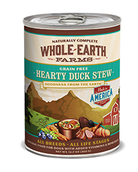 Whole Earth Farms Grain Free Hearty Duck Stew Wet Food