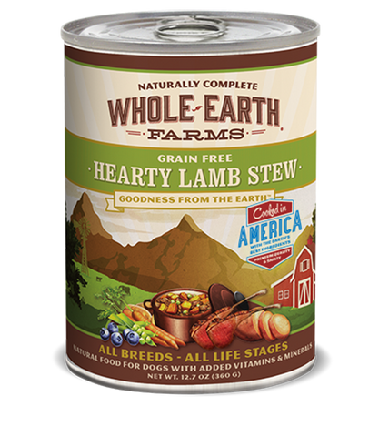 Whole Earth Farms Grain Free Hearty Lamb Stew Wet Food