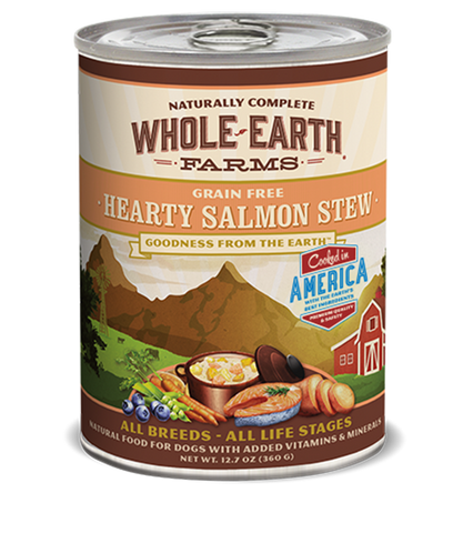 Whole Earth Farms Grain Free Hearty Salmon Stew Wet Food