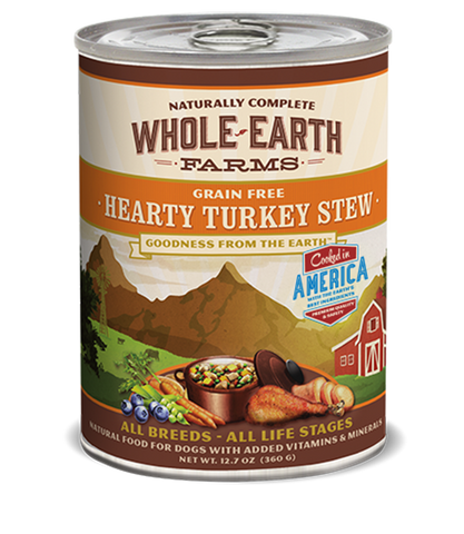 Whole Earth Farms Grain Free Hearty Turkey Stew Wet Food