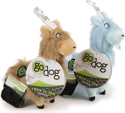 goDog® Plush Buck Tooth Llama Dog Toy, Blue