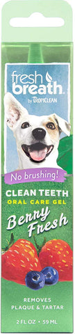 Fresh Breath by TropiClean Berry Flavored Oral Care Gel for Dogs, 2 oz