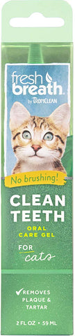 Fresh Breath by TropiClean Oral Care Gel for Cats, 2 oz