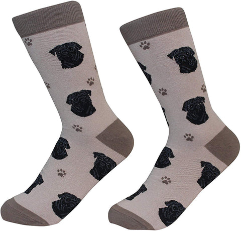 Sock Daddy Breed Socks, Pug Black
