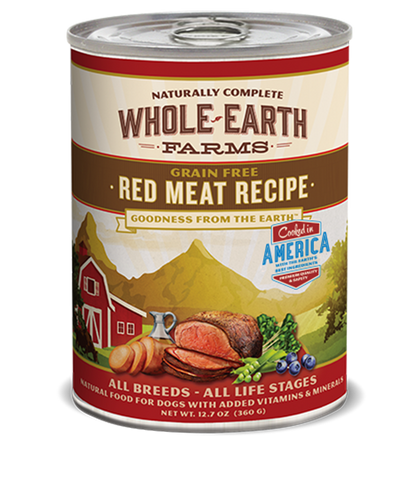 Whole Earth Farms Grain Free Red Meat Recipe Wet Food