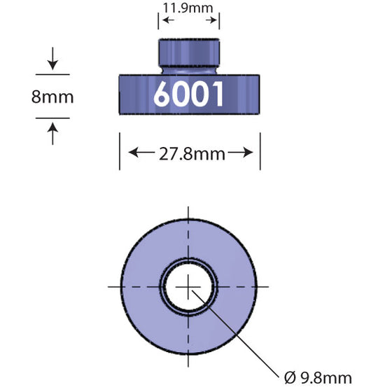6001 Open Bore Adapter