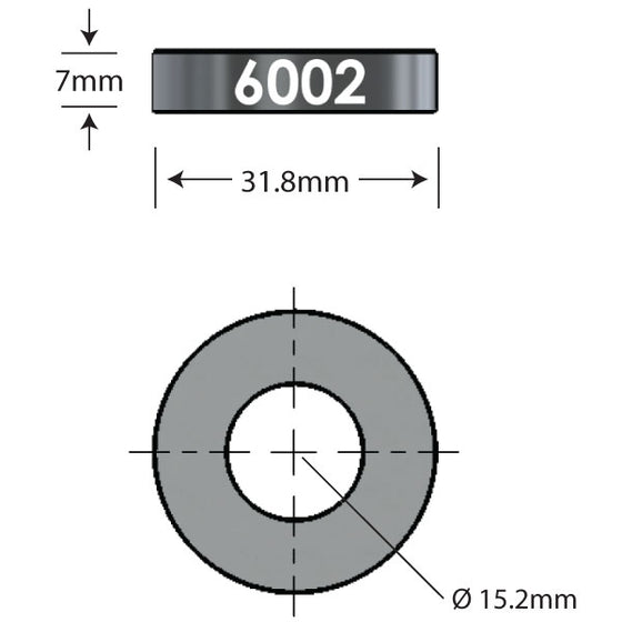 6002 x 7mm   Over Axle Adapter